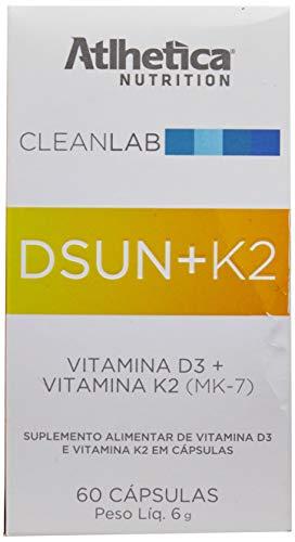 CleanLab Dsun + K2 (Vitamin D3 1000ui + K2) 60caps, Atlhetica Nutrition