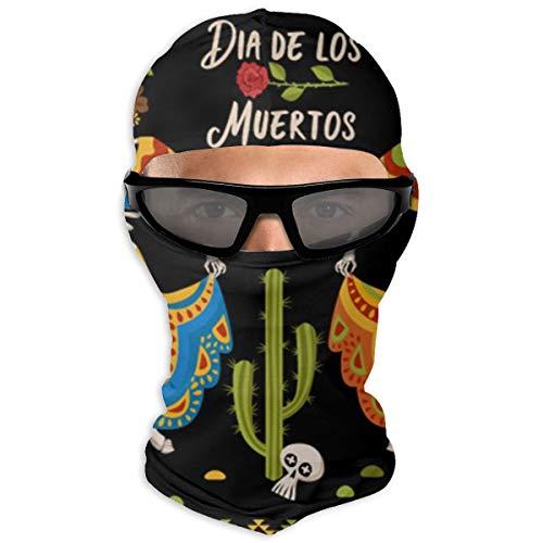 N/A Full Face Masker Mexicaanse Vrouwen Skeletons Hood Zonnebrandcrème Masker Dubbele Laag Koud Voor Mannen En Vrouwen