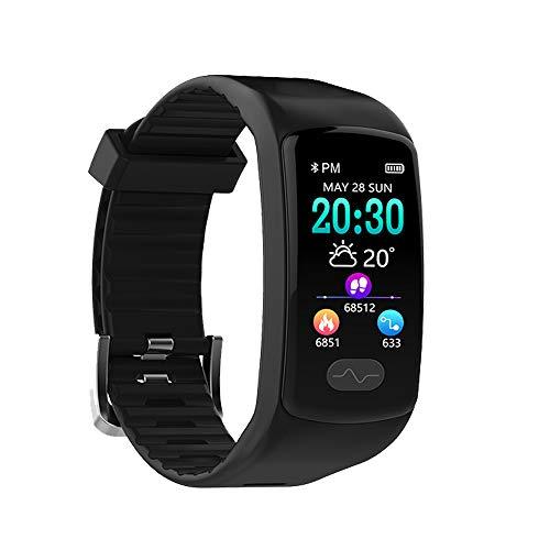 LDDCUTE Activiteit armband, ECG + PPG Smart Armband met Hartslagmeter Armband en Hartritme Monitoring Waterdichte Activiteit Monitor IP67 Klok Fitness Stappenteller voor, Zwart