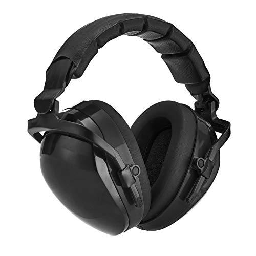 Amazon Basics Noise-Reduction Safety Earmuffs Ear Protection, Solid Black