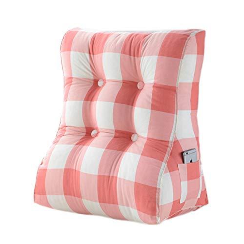pillow Cómodo cojín triángulo multicolor para la cabeza de la cama, cojín para sofá de la oficina, cojín triangular extraíble y lavable suave (color: C, tamaño: 45 cm)