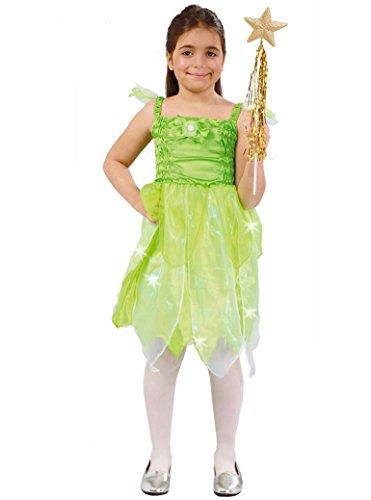 Guirca- Costume da Fata 5/6 Anni, Colore Verde, 81883