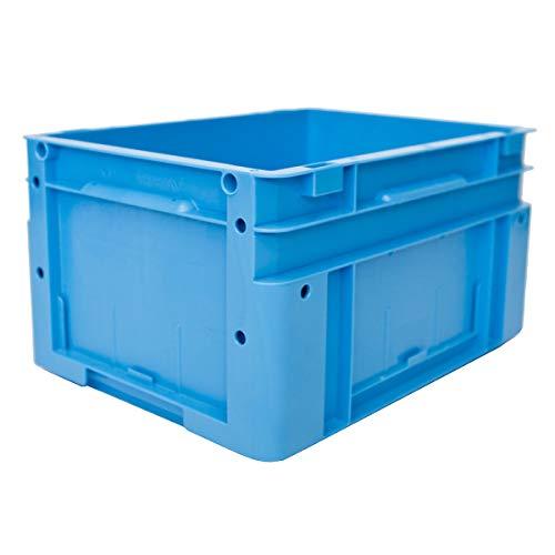 utz Euronorm-Stapelbehälter - Außen-LxBxH 400 x 300 x 220 mm - blau, VE 4 Stk - Box Euronorm Stapelkasten Euronorm Stapelkästen Euronorm-Stapelbehälter Euronorm-Stapelkasten Kiste Lagerkasten