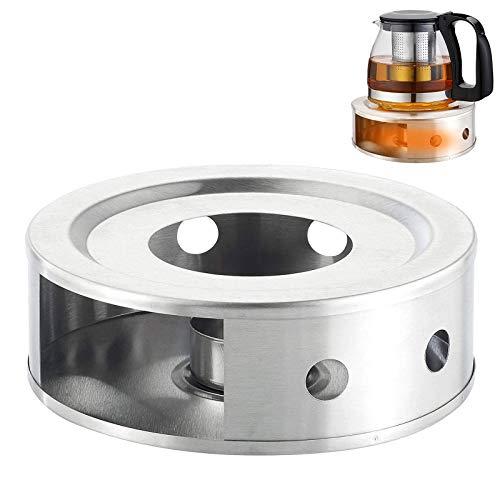 WELLXUNK Scalda Teiera,Scalda tè,Base scaldateiera in Acciaio Inossidabile,per caffè,tè e Scaldavivande,teiera Resistente al Calore