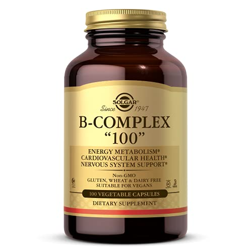 Solgar B-Complex '100', 100 Vegetable Capsules - Heart Health -...