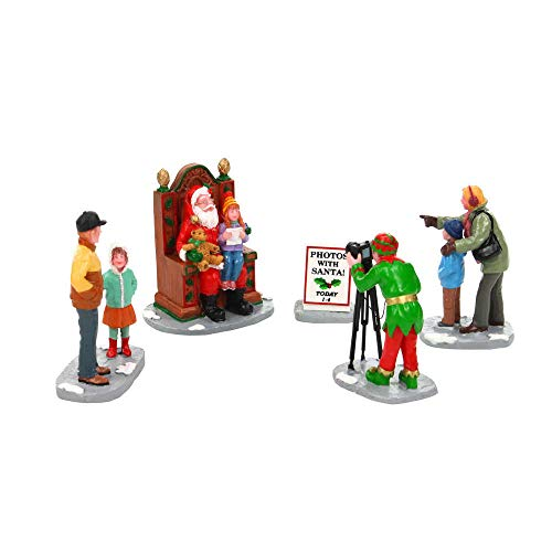 Lemax Village Collection Photos with Santa Assortment of 5