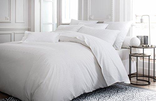 Anne de Solene Housse de Couette Retro White Coton Blanc 140 x 200 cm