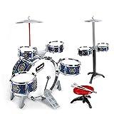 CuteLife Batería para Niños Niños Electroplate Jazz Drum Set Percussion Instruments Drum Kit Juguetes con Taburete para Chico Niños Niñas (Color : 3, Size : 80 x 43 x 60cm)