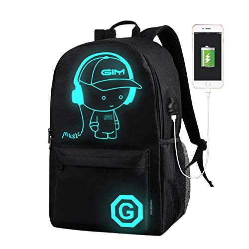 School Backpack, ICETEK Galaxy Anime Bag Laptop Backpack for Boys Girls Fits 15.6 inch Unisex Lightweight 30L College Rucksack Daypack with USB Charging Port for Teen Boys Girls