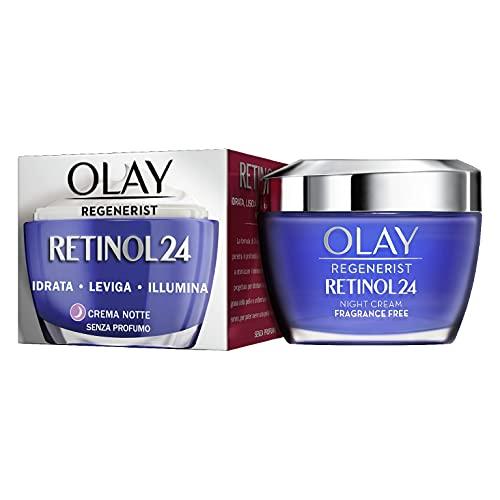 Olay/Olaz Regenerist Retinol24 Crema Notte Idratante Viso Senza Profumo Per Una Pelle Liscia E Luminosa Con Retinolo E Vitamina B3 50ml