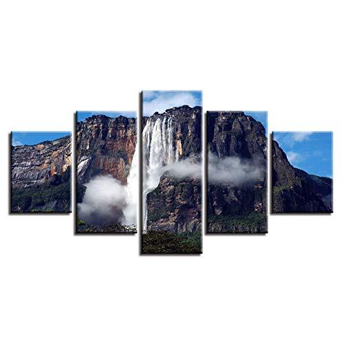 wafv 5 aufeinanderfolgende gemälde Leinwand HD Drucke Bilder 5 Stücke Musik Mikrofon Gemälde Home Wandkunst Dekor Wohnzimmer Mischpulte Poster