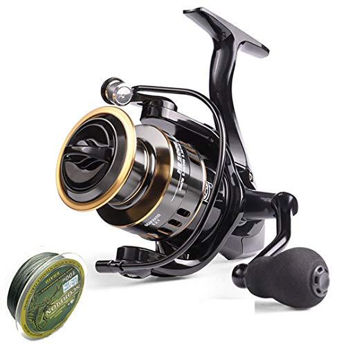 Carrete de Pesca 500-7000 Drag 10kg Metal Ball Grip Spool Spinning Reel Agua Salada Carrete de Carpa He(Eva Grip) 4000 Series
