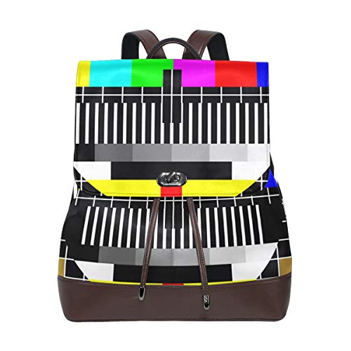 Ahomy Damen Leder-Rucksack Test TV Bildschirm Wasserdicht Anti-Diebstahl Mode Schule Rucksack Casual Daypacks