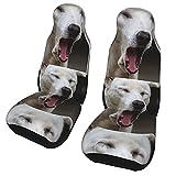 Funda de asiento para coche The Dog's Freedom Funda para silla de coche Protector universal para asiento delantero de coche 2 piezas
