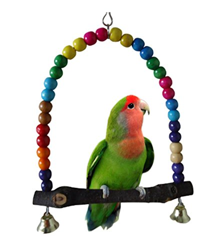 LIANCHI Petite ou Grande Taille Perroquet Jouet Pure Naturelles Perle Cage Parrot Chewing Toy(Small)