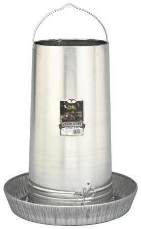 17in. Galvanized Hanging Poultry Feeder Tubes