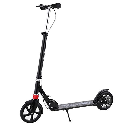 Buy Cheap WOOKRAYS Adult Scooter -Quick-Release Folding System, Dual Suspension System, Adjustable H...