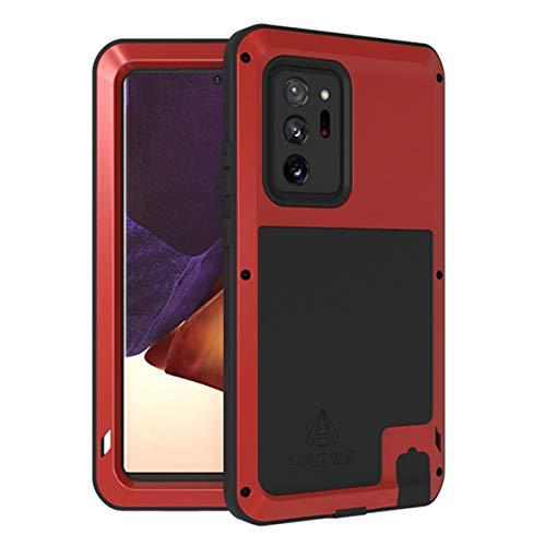 MOONCASE para Galaxy Note 20 Ultra Funda, Parachoques Metal + TPU Suave A Prueba Choques y Antideslizante y Disipación de Calor Funda para Samsung Galaxy Note 20 Ultra 6.9' (Rojo)