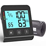 JOOPHYS Blood Pressure Monitor Upper Arm (Smart Pressurized Tech), 9-17' Large Cuff, 2.8*3.8'' Largest LCD, Automatic Clinical Accurate BP Machine, 2 Users 180 Memory with Date & Time, 4 AAA Batteries