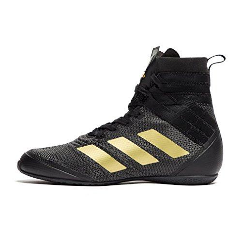 adidas Speedex 18, Zapatos de Boxeo para Hombre, Negro (Schwarz/Gold Schwarz/Gold), 46 2/3 EU