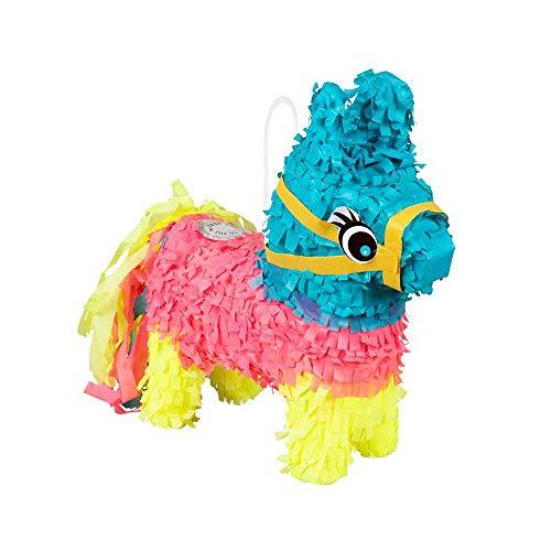 Boland 30975 - Mini Pinata Esel, Größe 20 x 18 cm, Pappe, Partyspiel, Tier, Geschenk, Kindergeburtstag, Dekoration