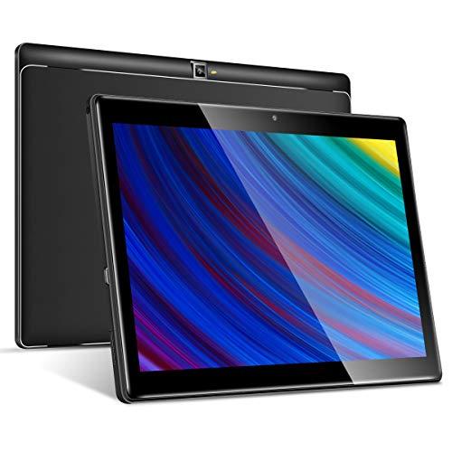 4G LTE Tablet 10 Zoll Android 9.0, Padgene P23L Google Tablet PC mit Quad Core CPU 3G + 64G Speicher Dual Simkarten Slot Dual Kamera 2.0/8.0 MP WiFi/3G BT GPS Telefonfunktion(Schwarz)