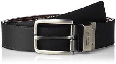 Kenneth Cole REACTION Oil Tanned Leather Reversible Men's Belt,Brown/Black,34