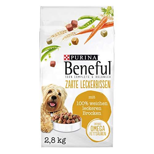 PURINA BENEFUL Zarte Leckerbissen Hundefutter trocken, mit Rind, 1er Pack (1 x 2,8kg)