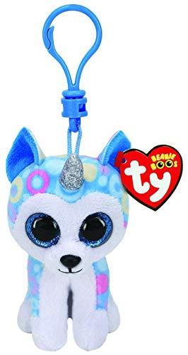 Ty Boo - Pinza para llaves (Helena el Husky con cuerno)