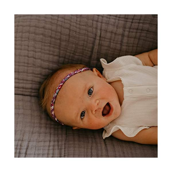 """Parker Baby Girl Braided Headbands, Assorted 10 Pack of Hair Accessories for Girls -""""Marigold Set"""""""