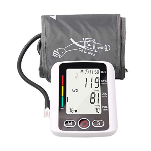 Bonarty Brazo Portátil Monitor de Presión Arterial Máquina de Gran Calibre Familias Cuidado de La Salud