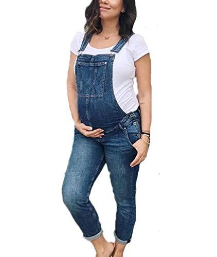 huateng Schwangere Frauen Jeans Overalls Umstandsmode Latzhose Overalls Latzhose Jeanshose