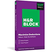 H&R Block Tax Software Deluxe & State 2020 with Refund Bonus Offer
