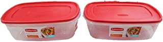 Rubbermaid 669900232999 Easy Find Lid Square 2.5-Gallon Food Storage Container, Red,  Pack of 2