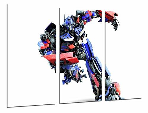 Cuadro Fotográfico Transformers Azul y Rojo, Autobots, Optimus Prime, Tamaño total: 97 x 62 cm XXL