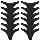 toocool - stock 12 pezzi perizoma slip donna thong liscio tanga elasticizzato nuovo 368-12 [l/xl,nero]