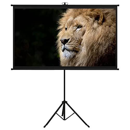 """vidaXL Projection Screen Home Theater Indoor Film Public Display Screen Office School Interior Conference Room Presentation with Tripod 60"""" 16:9"""