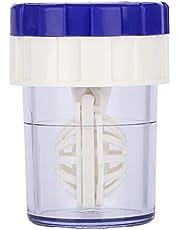 Contactlenzenreiniger Handmatig Contactlenzenwasmachine Mode Handmatig reinigen van kunststof Lenzenhouder Contactlenzenreiniger Wasmachine Blauw(blauw)