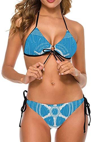 my cat Bikini 2-teiliges Set/umweltfreundliches Badebekleidungs-Geschenkset Bikini - Dreieck-Set Weißer Punkt Koralle Orange Tropische Pflanze-Weiß8-XX-Groß
