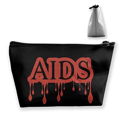 AIDS Sac de rangement portable pour maquillage de grande capacité Sac de voyage