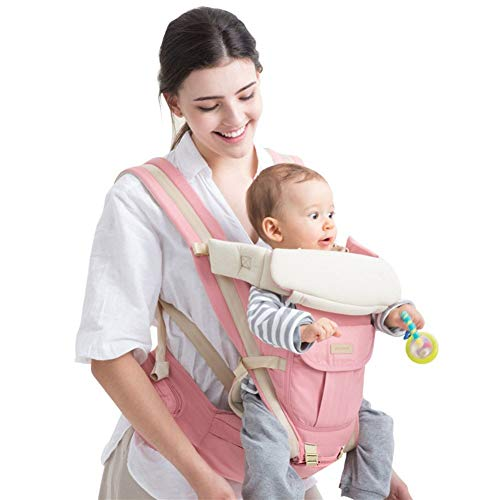 Ergonomische Babytrage/Kindertrage Babytragetuch, Four Seasons Universal Babytrage Baby Hüfthocker Hold Baby Sitzhocker Multifunktional...