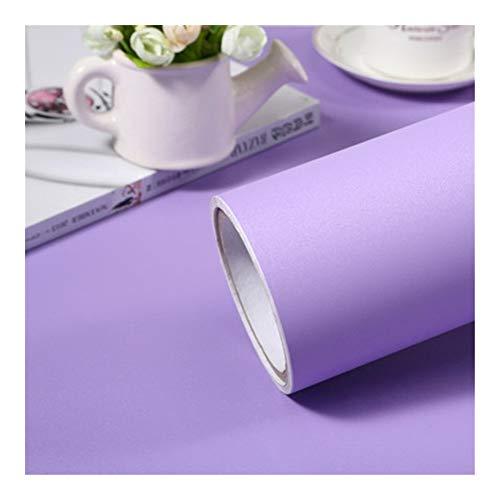 HDS 1M / 2M Moderne Wohnzimmer-Möbel Tischwasserdicht Marmor Tapeten Vinylselbstklebenden Kontakt Papier Solid Color Home Decor (Color : Matt Light Purple, Dimensions : 40cm x 2m)