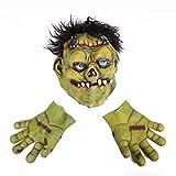 HKPLDE Ensemble de Masque de scie Halloween, Masque de Latex de Masque de Costume de Mascarade de Masque pour Accessoires de Costume de Halloween-Vert