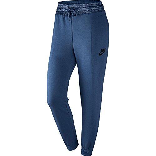 Nike W NSW AV15 Pant FLC - Pantalone, Blu, M, Donna