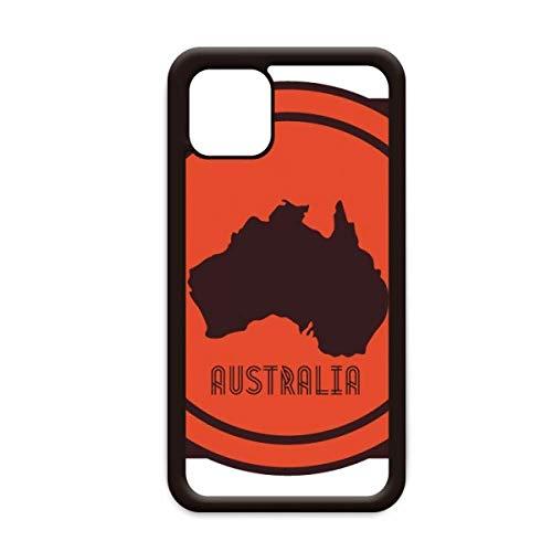 Australië Flavor Map Embleem Illustratie voor Apple iPhone 11 Pro Max Cover Apple mobiele telefoonhoesje Shell, for iPhone11 Pro Max