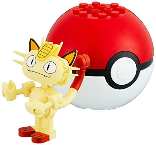 Pokemon Mini Figur MAUZI Meowth mit Pokeball BAU Blocksteine Block - Mega Construx