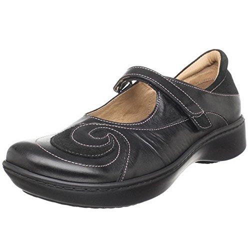 NAOT Footwear Women's Sea Shoe Black Madras Lthr/Black Suede 9 M US