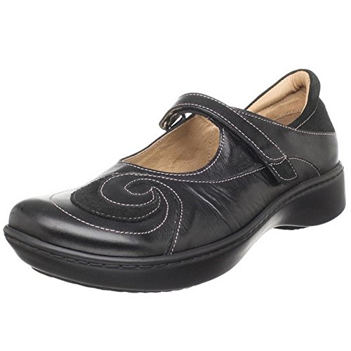 Naot Footwear Women's Sea Shoe Black Madras Lthr/Black Suede 8 M US