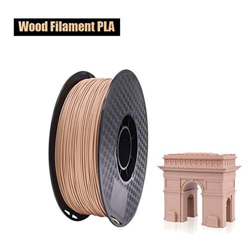 MUYUNXI Filamento para impresora 3D PLA de fibra de grano de madera de 1,75 mm de precisión ± 0,02 1 kg de materiales de impresión 3D, para la mayoría de impresoras 3D, PLA., 500 g