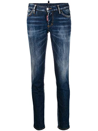 Luxury Fashion | Dsquared2 Dames S73LA0239S30685470 Donkerblauw Elasthaan Jeans | Lente-zomer 20